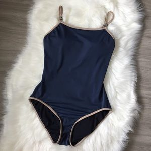 Michael Kors Navy Blue One Piece Swim Suit
